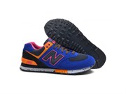New Balance 574 90's  (Royal BluePinkOrange)