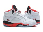 Nike Air Jordan 5 Retro (WhiteFire-RedBlack)