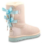 UGG BAILEY BOW BLING I DO WHITE