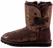 UGG BAILEY BUTTON FANCY CHOCOLATE
