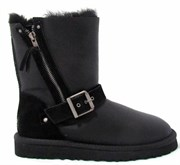 UGG SHORT BLAISE METALLIC BLACK