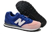"""New Balance 574 """"Classic"""" Women (Deep Blue/Light Pink)"""