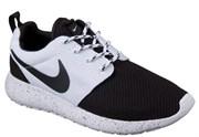 Nike Roshe Run Men's бело-черные (Euro 36-45)
