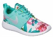 Nike Roshe Run Women's голубые с цветами (Euro 36-40)