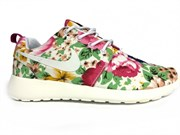 Nike Roshe Run Women Flower Tree Peony White (Euro 36-40)
