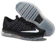 Nike Air Max 2016 черные с белым (40-45)