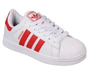 Adidas Superstar White Red