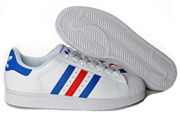 Adidas Superstar Supercolor White Blue Red