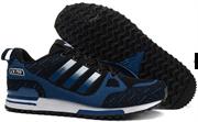 Adidas ZX 750 Black Blue Flyknit