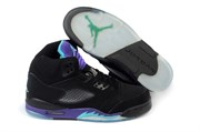 Air Jordan 5 (Black/New Emerald/Grape Ice)