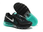 Nike Air Max 2014 Leather Men (BlackWhiteGreen)