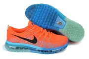 Nike Air Max 2014 Flyknit (Bright CrimsonBlackPhoto Blue)